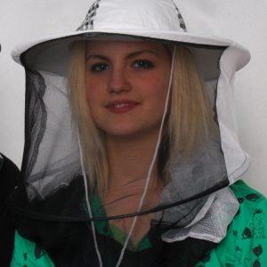 Gumis méhészsapka (kétrétegű vékony anyagból)